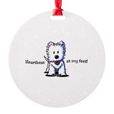Westie Heartbeat Ornament