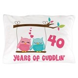 40th wedding anniversary Pillow Cases