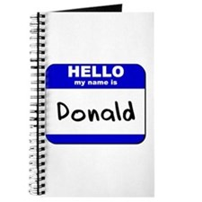hello my name is donald Journal
