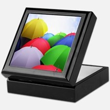 The Colorful Umbrellas Keepsake Box