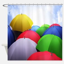 The Colorful Umbrellas Shower Curtain