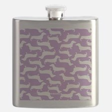 Cute Dachshund Pattern Flask