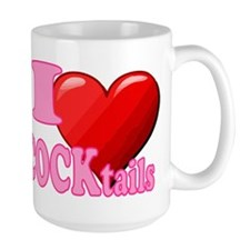 I heart COCKtails (in full pink) Mugs