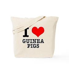 I Heart (Love) Guinea Pigs Tote Bag