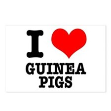 I Heart (Love) Guinea Pigs Postcards (Package of 8