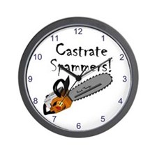 Castrate Spammers Wall Clock