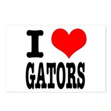 I Heart (Love) Gators Postcards (Package of 8)