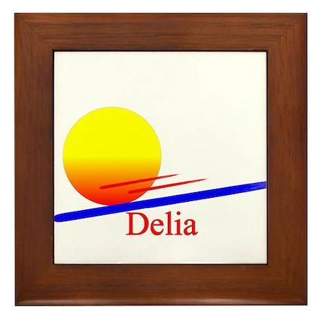 Delia Framed Tile