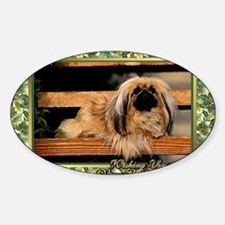 Pekingese Dog Christmas Decal