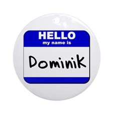 hello my name is dominik  Ornament (Round)