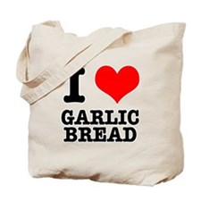 I Heart (Love) Garlic Bread Tote Bag