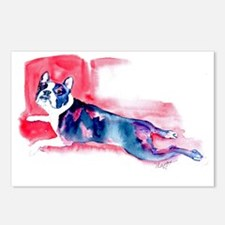 Boston Terrier-Frog Leggs Postcards (Package of 8)