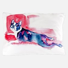Boston Terrier-Frog Leggs Pillow Case