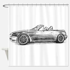 silver shadow mx5 Shower Curtain