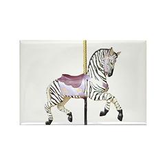 carousel zebra Rectangle Magnet (100 pack)