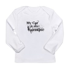 My Cat is My Valentine Long Sleeve T-Shirt