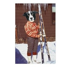 Hit the Slopes Collie Postcards (Package of 8)