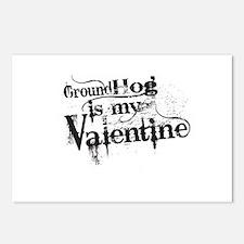 Ground Hog is My Valentine Postcards (Package of 8