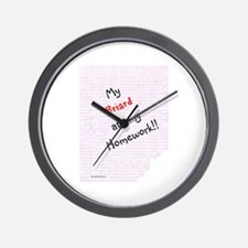 Briard Homework Wall Clock