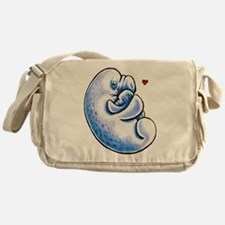 Manatee Mothers Love Messenger Bag
