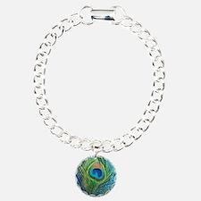 Glittery Blue Peacock Bracelet