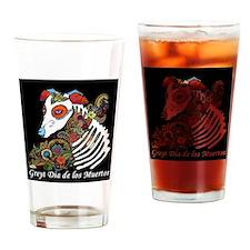Greyt Dia de los Muertos Drinking Glass