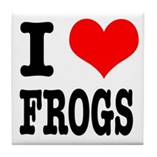 I Heart (Love) Frogs Tile Coaster