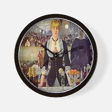 Bar at Folies Bergere Wall Clock