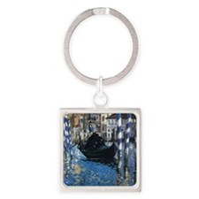 Grand Canal Venice Square Keychain