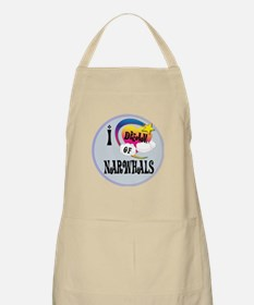 I Dream of narwhals Apron