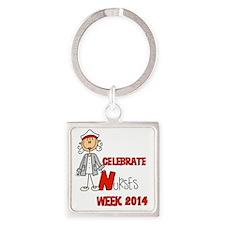 Celebrate Nurses Week 2014 Square Keychain