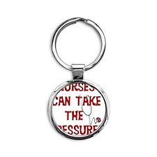 Nurses Take the Pressure Round Keychain