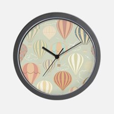 Vintage Hot Air Balloons Wall Clock