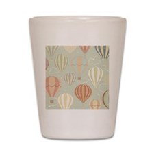 Vintage Hot Air Balloons Shot Glass
