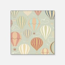 "Vintage Hot Air Balloons Square Sticker 3"" x 3"""
