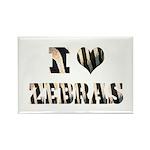 i love zebras Rectangle Magnet (100 pack)