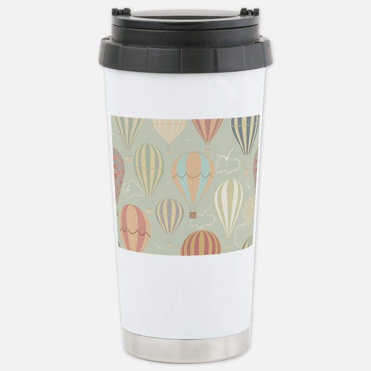 Vintage Hot Air Balloon Stainless Steel Travel Mug