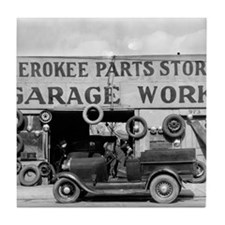 Cherokee Parts Store Tile Coaster