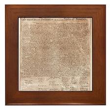 US declaration independence Framed Tile