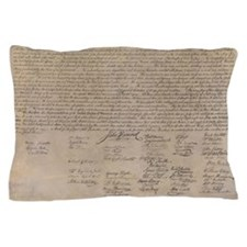 US Declaration Independence Pillow Case