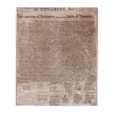 US Declaration Independence Throw Blanket