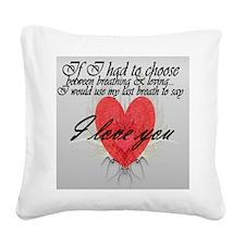 Last Breath Square Canvas Pillow