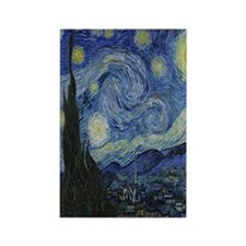 The Starry Night Rectangle Magnet