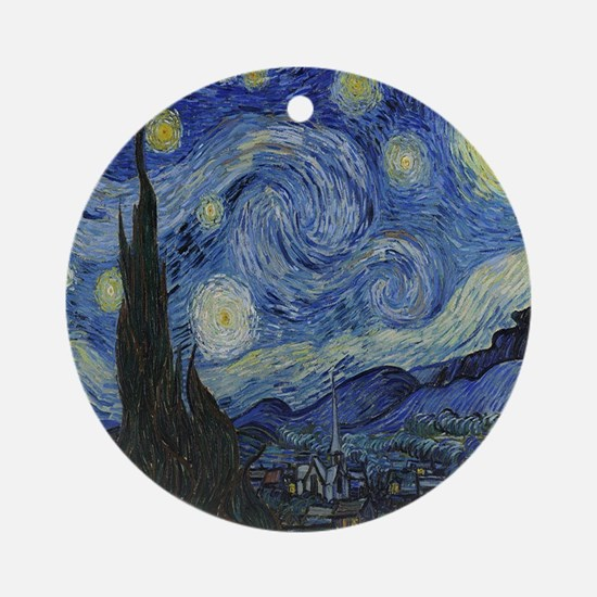 The Starry Night Round Ornament