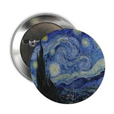 """The Starry Night 2.25"""" Button"""