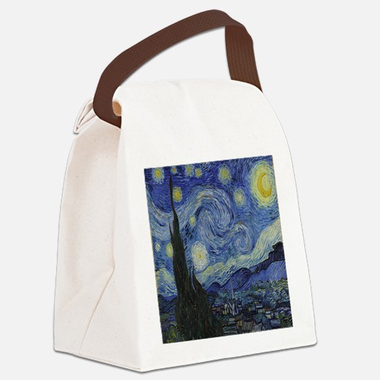 The Starry Night Canvas Lunch Bag