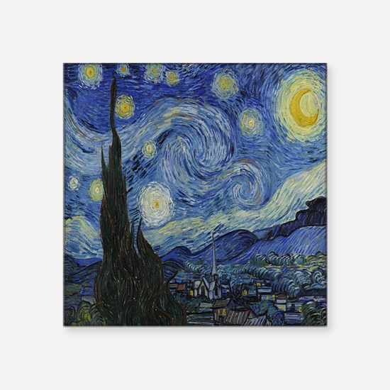 "The Starry Night Square Sticker 3"" x 3"""
