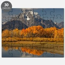 oxbow bend in fall colors Puzzle