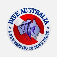 Dive Australia (rd) Round Ornament