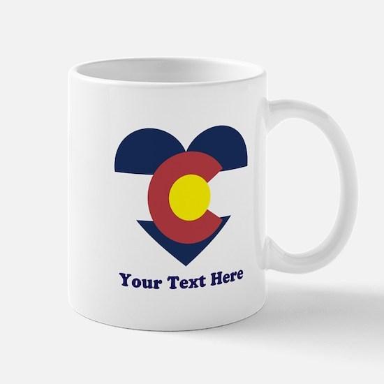 Colorado Flag Heart Personalized Mug